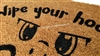 Wipe Your Hooves Custom Handpainted Fandom Welcome Doormat by Killer Doormats