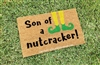 Son of a Nutcracker Custom Hand Painted Funny Elf Fandom Holiday Seasonal Welcome Door Mat by Killer Doormats