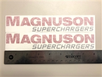 "Two Magnuson Superchargers 8"" x 1.5"" Decals"