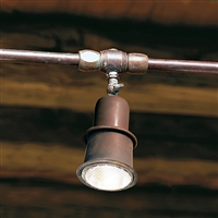 Civetta Aged Brass Conduit Mounted Adjustable Spot by Aldo Bernardi