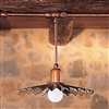 Civetta Aged Brass Conduit Mounted Pendant by Aldo Bernardi