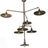 Civetta Aged Brass Three Tier Chandelier by Aldo Bernardi