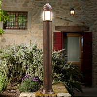Pra Aged Brass Path and Garden Light by Aldo Bernardi