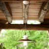 Merano Indoor/Outdoor Brass and Ceramic Pendant Light by Aldo Bernardi