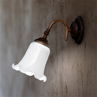D'Epoca Adjustable Aged Brass Interior Sconce by Aldo Bernardi