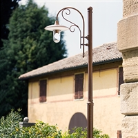 Otello Aged Brass Street Lamp by Aldo Bernardi