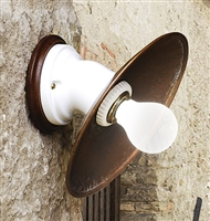 LAR.95.03 Polare Aged Brass and Ceramic Wall Mount by Aldo Bernardi