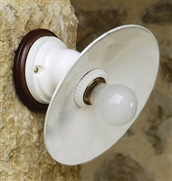 LAR.98.00 Isola Small Ceramic Interior Wall Mount with Shade by Aldo Bernardi