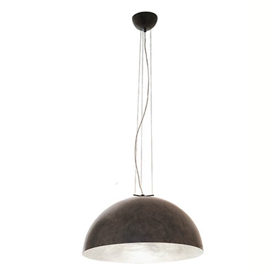 MOON2.SF Moonlight Medium Hemispherical Steel Pendant by Aldo Bernardi