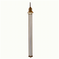 SUN3.1 Jasmine Aged Brass Outdoor Floor Lamp with One Light by Aldo Bernardi