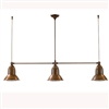 SUN9.G.O Clematide Three Light Aged Brass Interior/Exterior Pendant by Aldo Bernardi