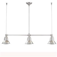 SUN9.M.NI Clematide Three Light Nickel Interior/Exterior Pendant by Aldo Bernardi