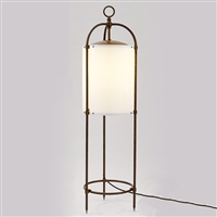TWIL4 Ortensia Aged Brass Mobile Outdoor Floor Lamp by Aldo Bernardi