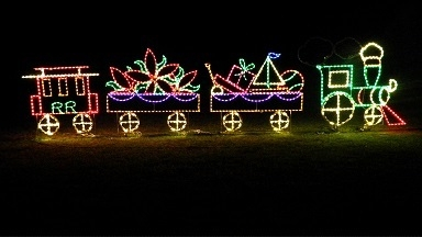 4 Pc Christmas Train- Animated C7 Wheels Large