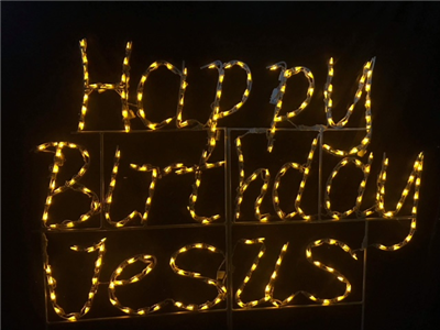 Happy Birthday Jesus - Cursive