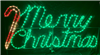 Merry Christmas Cursive with Candy Cane