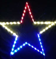 Red, White and Blue Star
