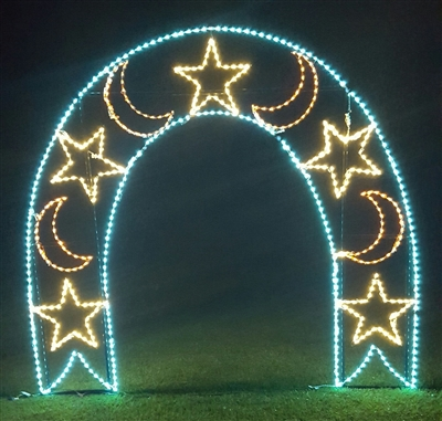 Walk Thru Moon and Stars Arch