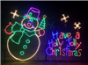 Snowman Holly Jolly Christmas Animated Snowflakes