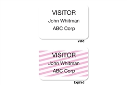 ONEstep Self-expiring TIMEbadge Adhesive Blank One Day Expiration - Thermal Printable.  Pkg of 500.