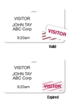 "Thermal Printable Clip-on Badge, 2.125"" X 3.8125""w/ Expiring TIMEtoken Indicator - Half Day Or One Day.  Pkg of 1,000."