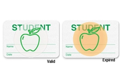 "Manual School Badge""STUDENT"".  Pkg of 500."