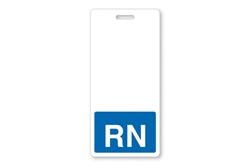 "Badge Buddy Blue ""RN"" Vertical  (QTY 4 packs of 25)"