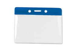 Blue Horizontal Vinyl Color-Bar Badge Holder -Gov't/Military Size (QTY 100)