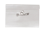 "Clear Rigid Vinyl Name Tag Holder W/ Nickel Plated Steel Pin - 2 1/4"" X 3 1/2"" (QTY 100)"