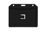 Black 2-sided Horizontal Multi-card Holder (QTY 100)