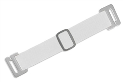 White Standard Adjustable Elastic Arm Band Strap (QTY 100)