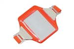 Neon Orange Vertical Arm Band Badge Holder (QTY 100)