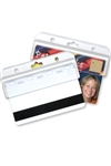 Frosted Rigid Plastic Horizontal Half Card Holder (QTY 100)