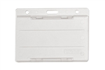 Frosted Clear Horizontal Open-face Rigid Plastic Card Holder (QTY 100)