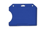 Blue Horizontal Open-face Rigid Plastic Card Holder  (QTY 100)