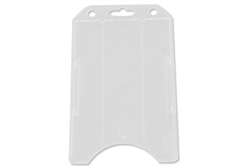 Frosted Clear Vertical Open-face Rigid Plastic Card Holder (QTY 100)