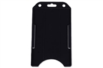 Black Vertical Open-face Rigid Plastic Card Holder (QTY 100)