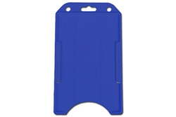 Blue Vertical Open-face Rigid Plastic Card Holder (QTY 100)