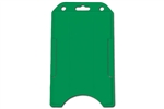 Green Vertical Open-face Rigid Plastic Card Holder (QTY 100)