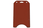 Red Vertical Open-face Rigid Plastic Card Holder (QTY 100)