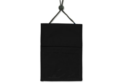 Black 3-pocket Credential Wallet W/ Pen Compartment W/ Adjustable Neck Cord (QTY 100)