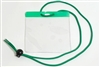 Green Extra Large Size Horizontal Vinyl Color-bar Badge Holder W/ Neck Cord (QTY 100)