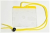 Yellow Extra Large Size Horizontal Vinyl Color-bar Badge Holder W/ Neck Cord (QTY 100)