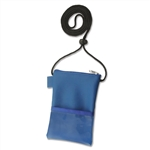 Royal Blue Large Vinyl Badge Holder w/Zip and Pen Holder (QTY 4 bags of 25)