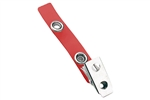 Red Vinyl Strap Clip w/2-Hole NPS Clip (100 QTY)