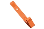 Orange Vinyl Strap Clip w/2-Hole NPS Clip (100 QTY)