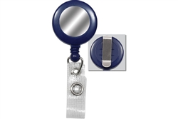 Blue Badge Reel with Silver Sticker, Reinforced Vinyl Strap & Belt Clip (QTY 100)