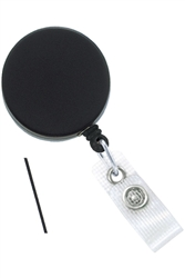 Black /Chrome Heavy-Duty badge Reel with Nylon Cord Reinforced Vinyl Strap & Belt Clip (QTY 100)