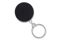 Black /Chrome Heavy Duty Badge Reel with Link Chain Split Ring & Belt Clip (QTY 100)