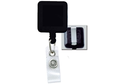 Black Badge Reel with Reinforced Vinyl Strap & Belt Clip (QTY 100)